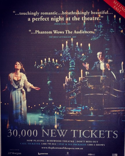 The Phantom of The Opera AU/NZ Tour Advertisement 2008/2009